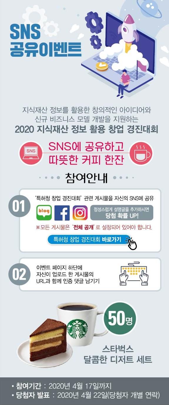 [한국특허정보원] 2020 창업 경진대회 SNS에 홍…